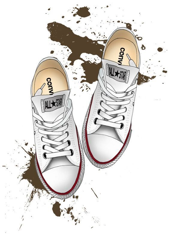 All Star Converse Illustration Gambar Mode Sepatu Converse Sepatu Kets
