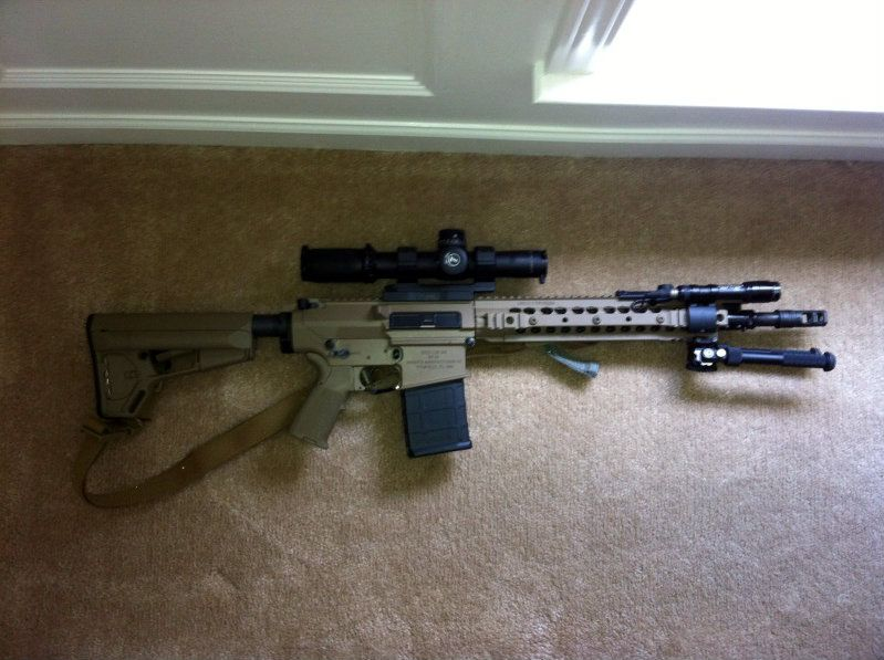 SR 25 Enhanced Carbine 308 Battle Rifle With DM Type Scope