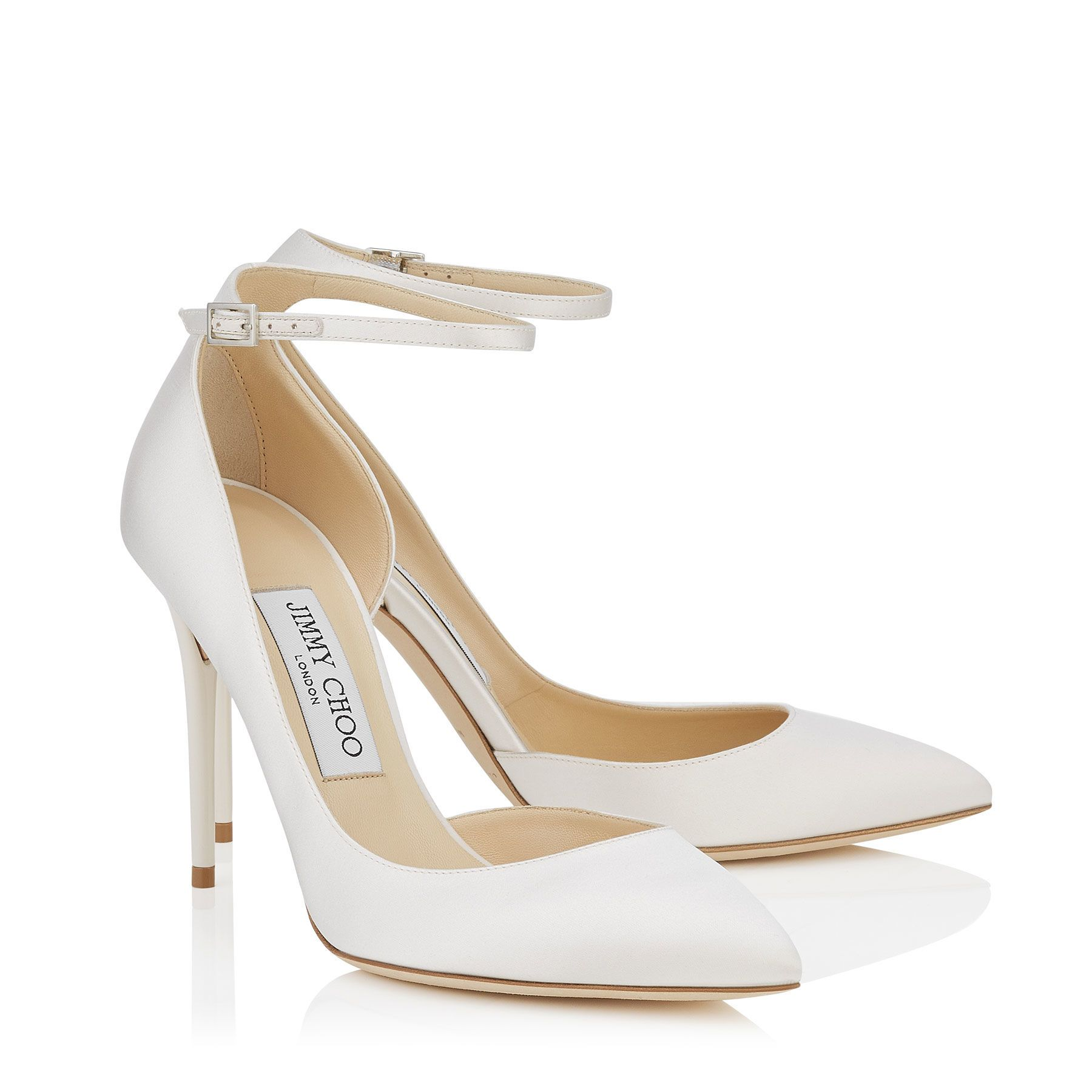 Lucy 100 embellished pumps - White Jimmy Choo London tIeJFAzv98