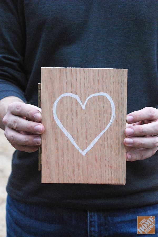 Gift Idea Diy Hinged Valentine Card The Home Depot Valentine S
