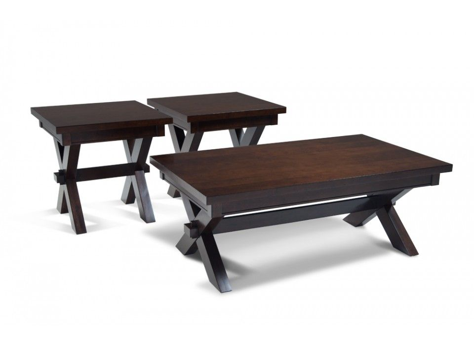 299 for coffee table and two side tables X-Factor Coffee Table Set ...