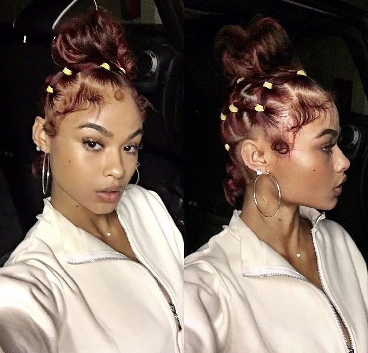 India Love Westbrooks Hair Styles Natural Hair Styles Wine Hair Color