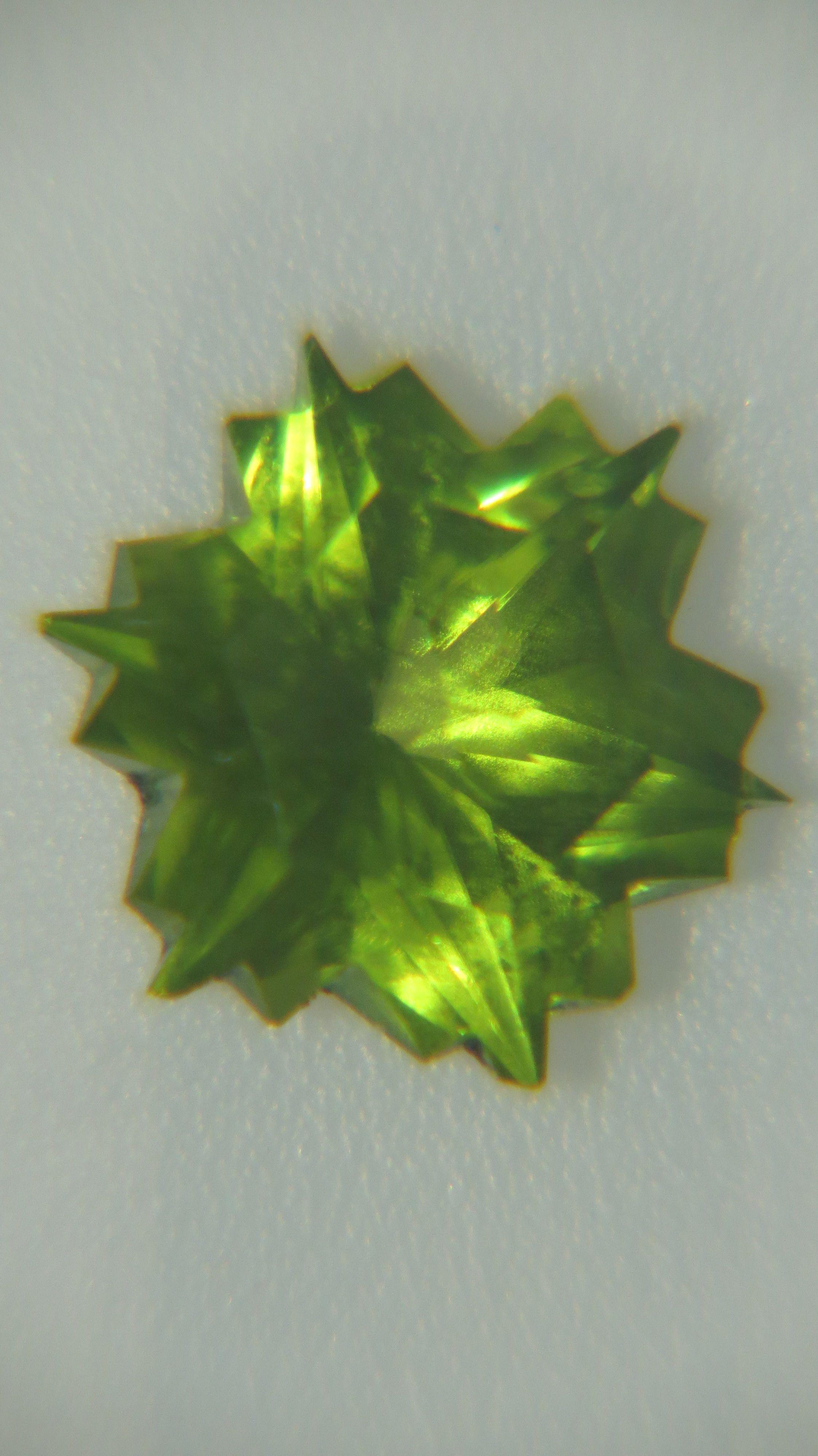 Misa Snowflake in Peridot Painted rocks, Precious stones