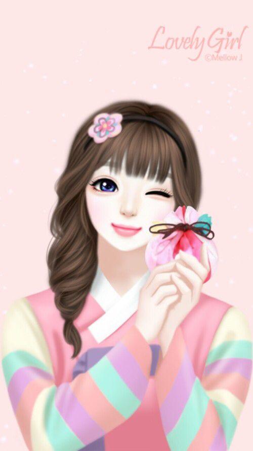 Enakei Minnie Mouse Cartoons Korean Illustration Cute Korean