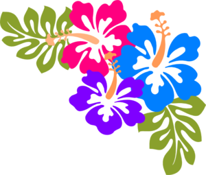 Example Of Corner Design Made Up Of Hibiscus Flowers And Leaf
