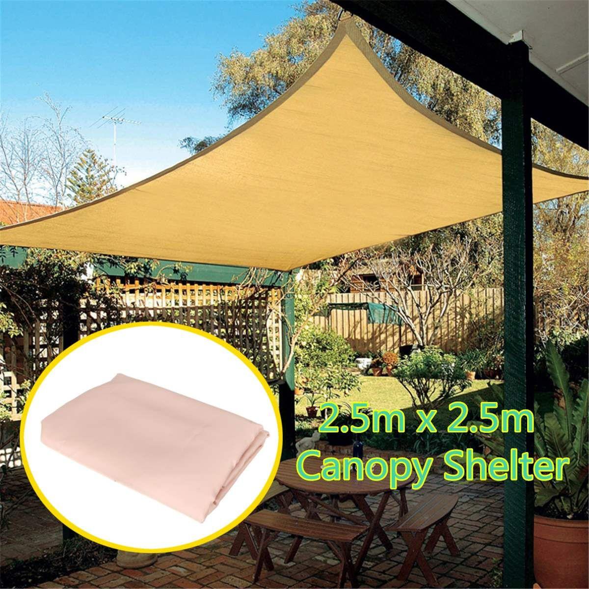 Waterproof Polyester Top Sun Shade Sail Shelter Outdoor Garden Car Cover Awning Canopy Patio Garden Accessories 2 5x2 5m In Awnin Toldo Casero Toldo Como Hacer