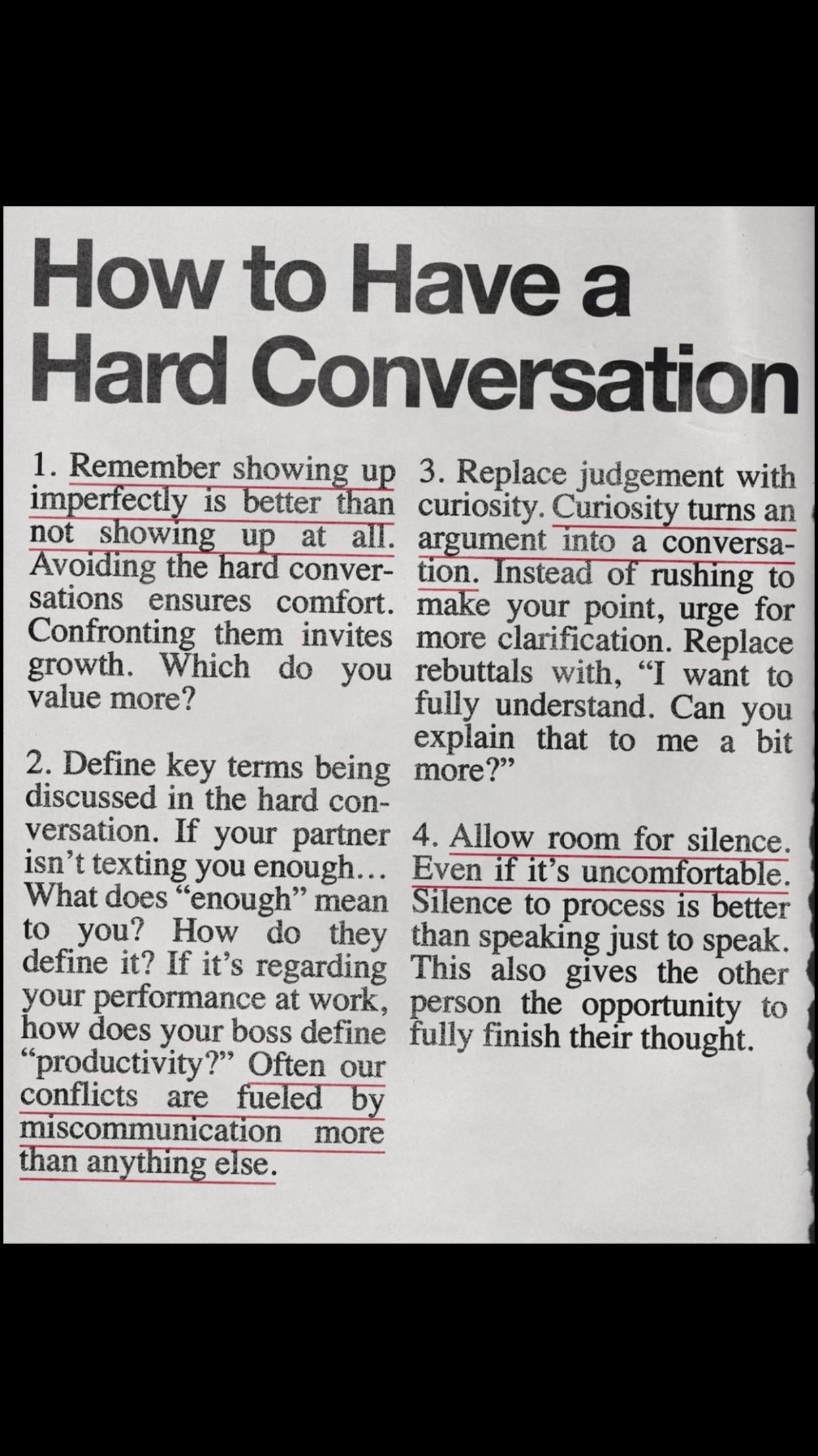How to Have a Hard Conversation
