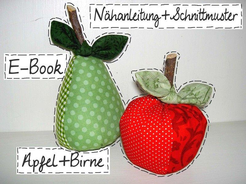 Diy E Book Anleitung Apfel Birne Schnittmuster Etsy E Book Apfel Birne