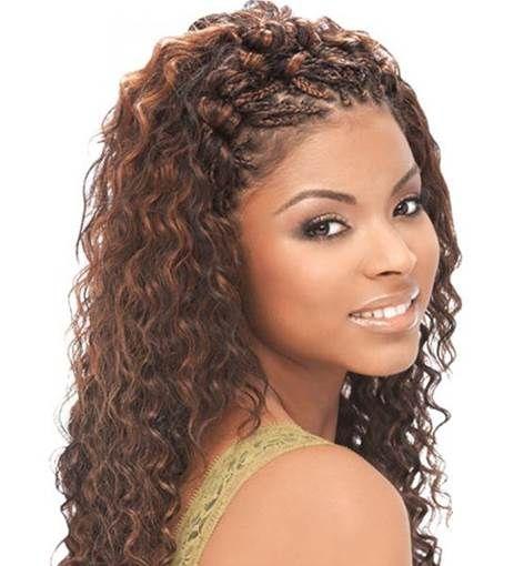 Deep Wave Micro Braids Bing Images Stylish Hair Braided Updo Wavy Weave Hairstyles
