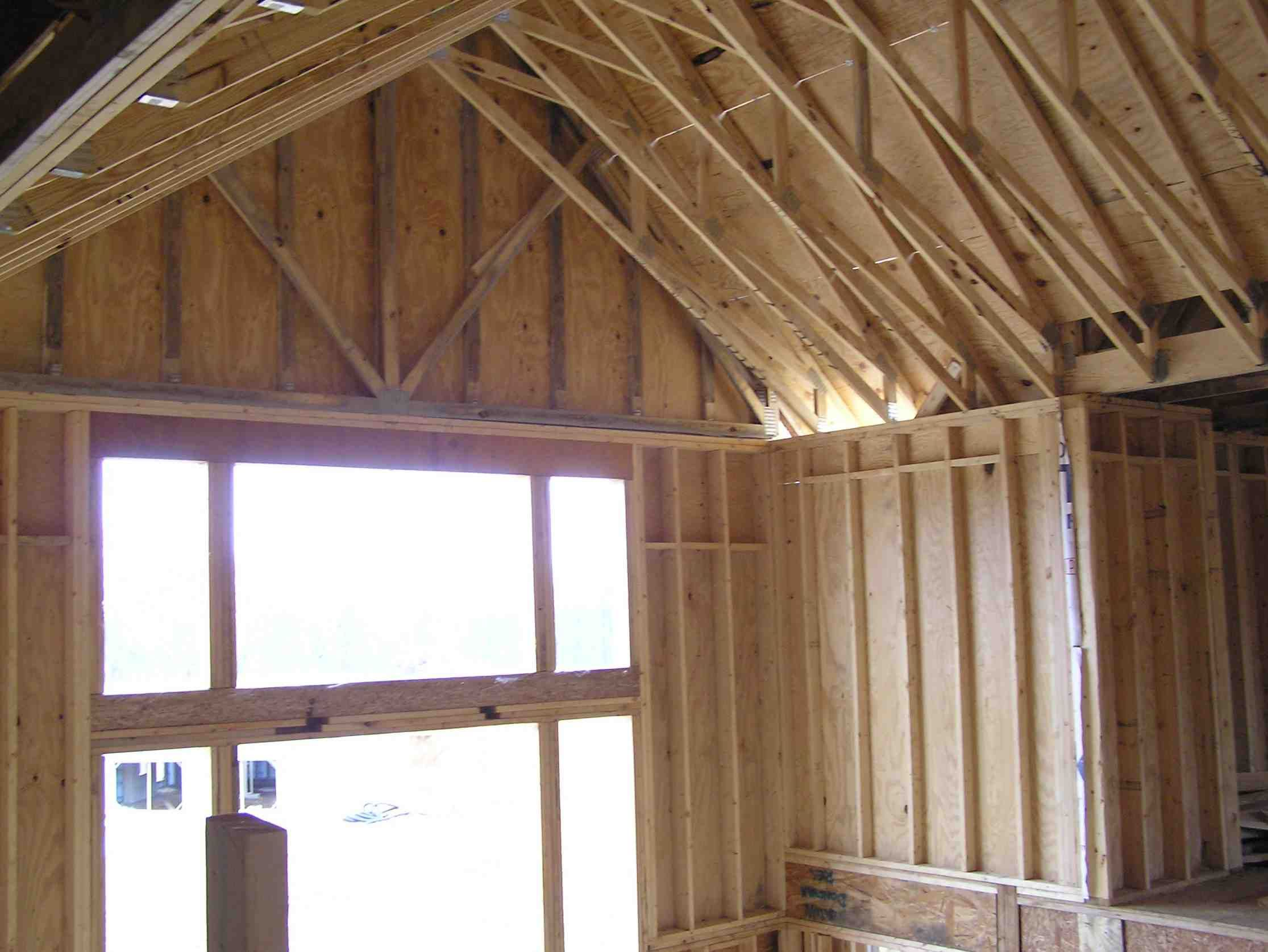 Best Framing A Tall Window Google Search Exposed Trusses 400 x 300