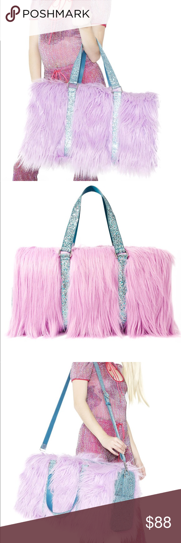 a7c57f075c Fuzzy sequin weekender Sugar Thrillz Wannabe Shagadelic Weekender will make  ya a first-class kawaii