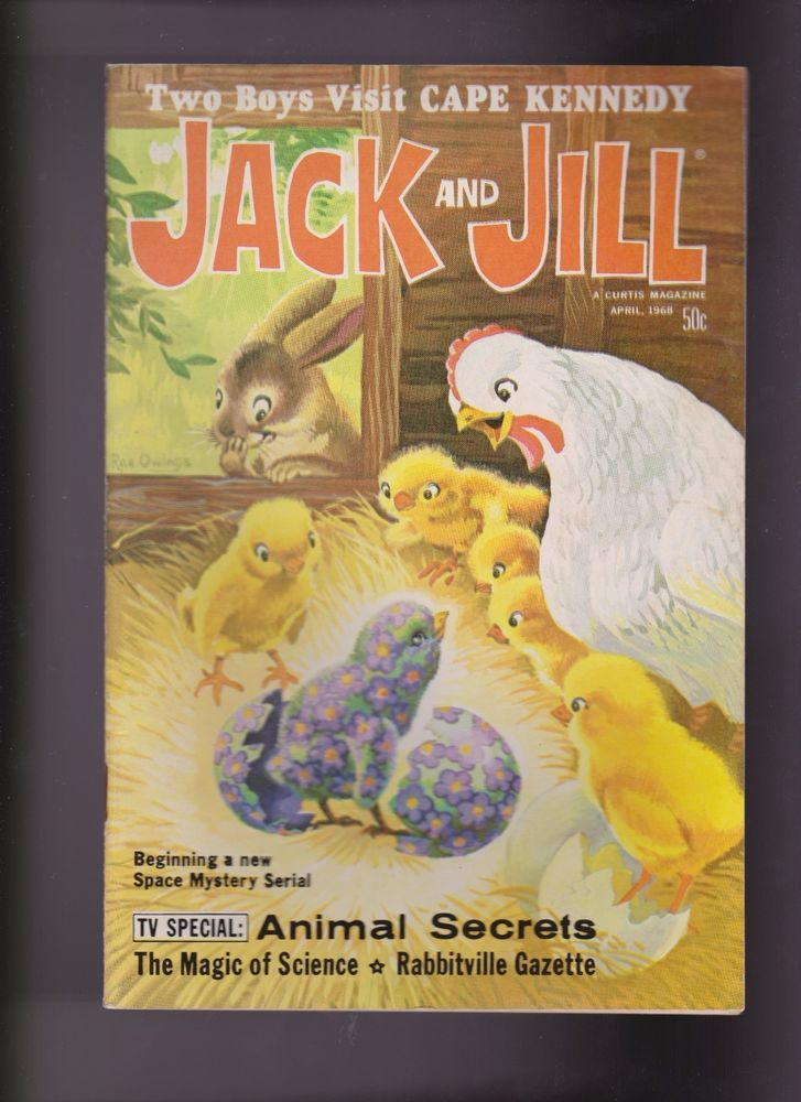 "April 1968 ""Jack and Jill"" Magazine for Boys & Girls Puzzles & Stories"
