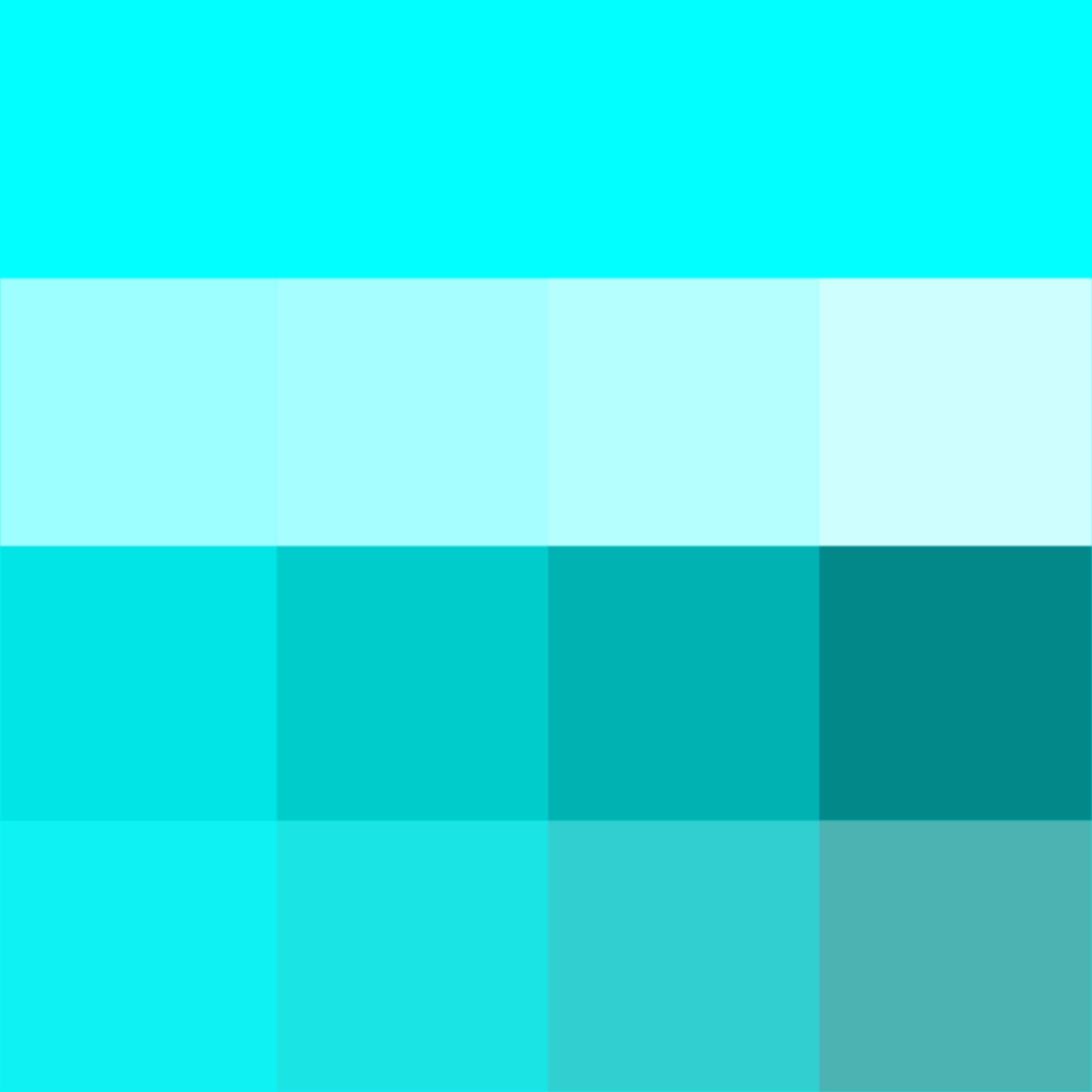 Aqua Shades Hue Pure Color With Tints Hue White