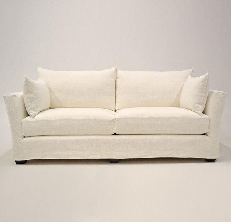 Quatrine Custom Furniture - Contemporary Slipcovered Sofa #slipcover ...