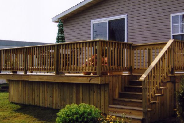 Mobile home deck designs view examples of our work below Decks and porches for mobile homes