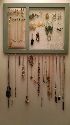 DIY Jewelry Organizer for 25 House Full of Pretty DIY