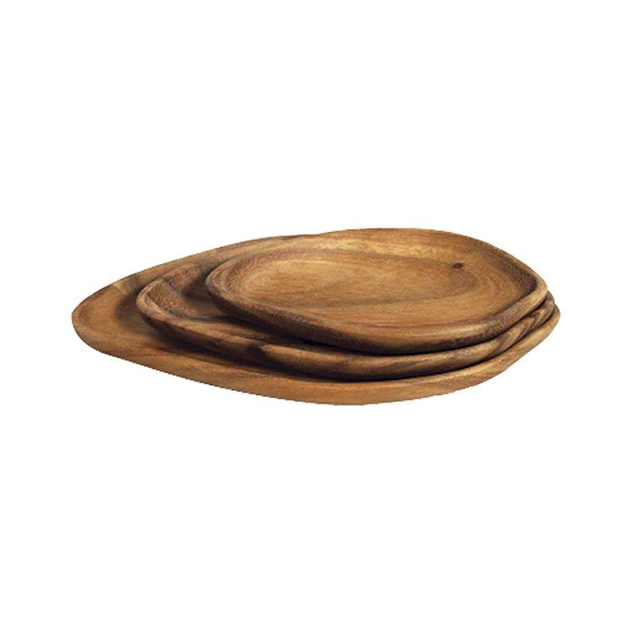 Hoja Acacia Serving Plates - Set of 3 | dotandbo.com