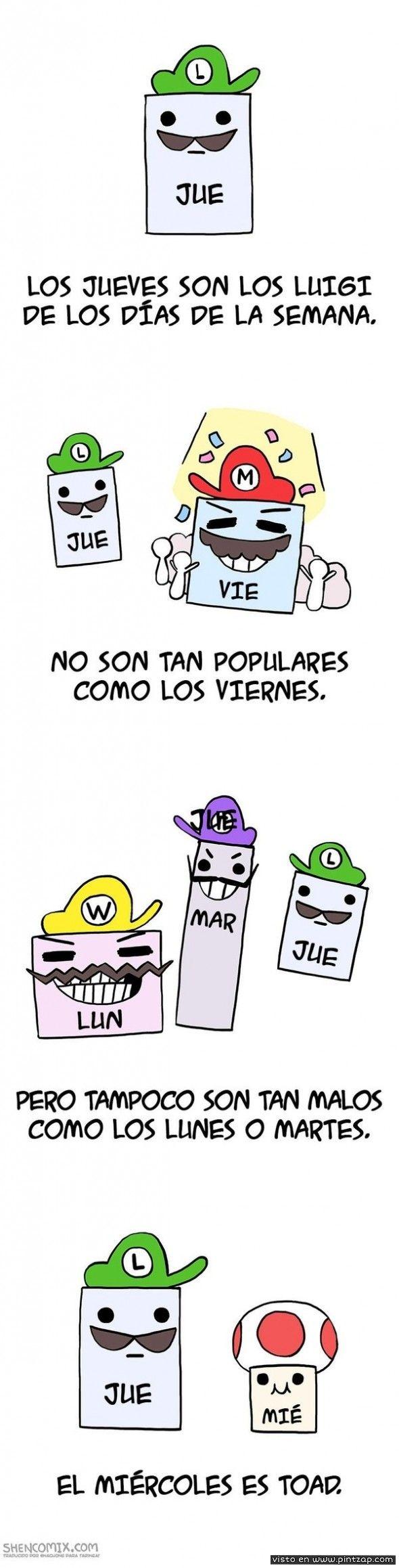 Los Jueves Son Los Luigi De Los Dias De La Semana Memes Divertidos Memes Chistes Y Bromas