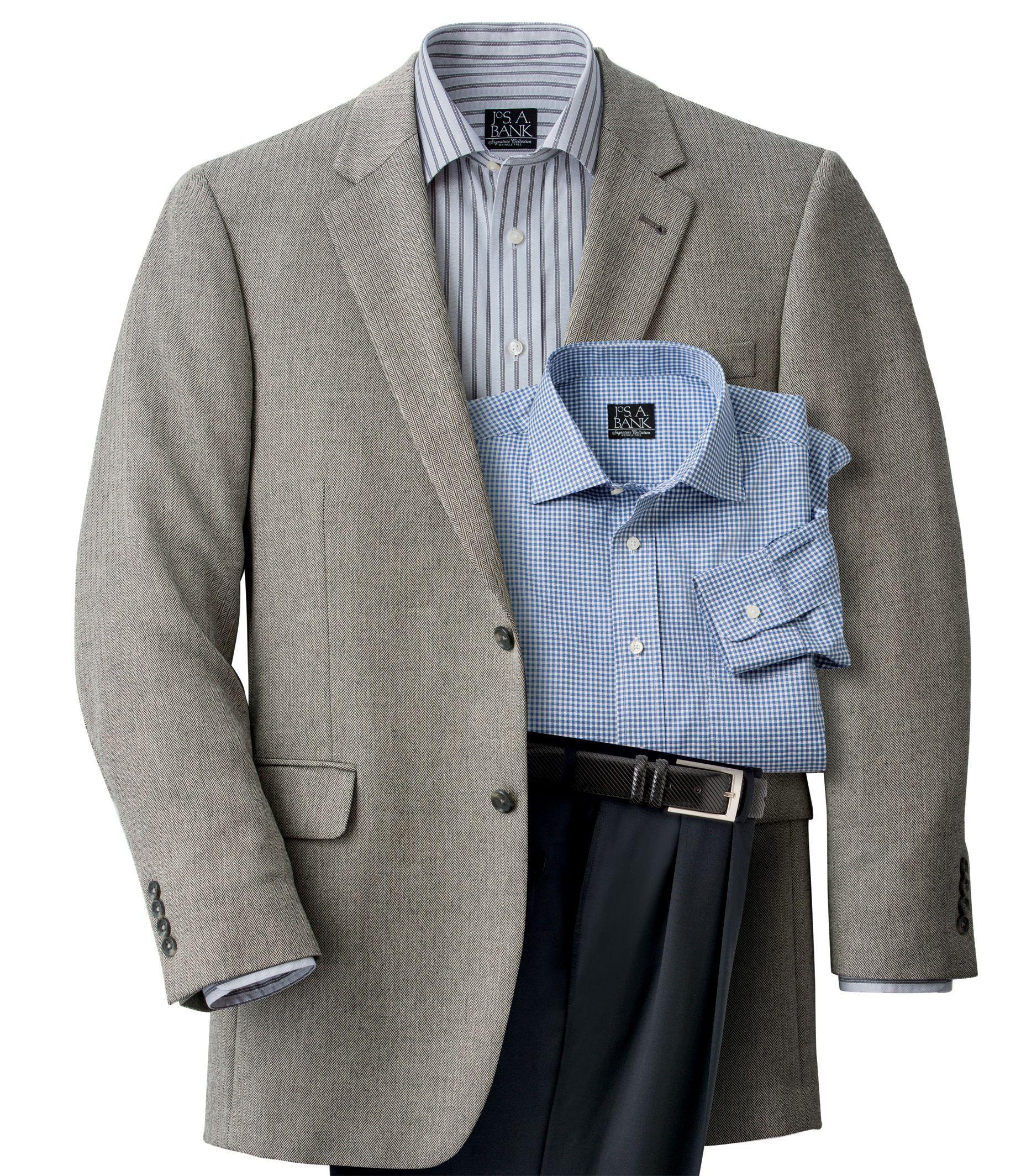 Signature 2Button Herringbone Regal Fit Sportcoat Sizes