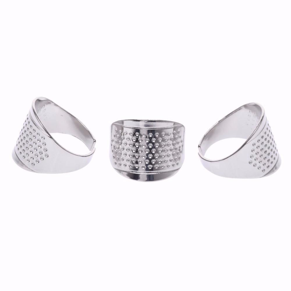 1 pcs Silver Ring Thimble Finger Protector Household Sewing Tools Quilting Craft Accessories