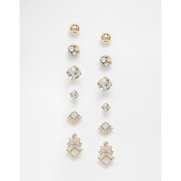3228bcd93 ALDO Comber Earrings Multipack ($14) ❤ liked on Polyvore featuring jewelry,  earrings, gold, studded jewelry, stud earrings, aldo, aldo jewelry i bullet  ...