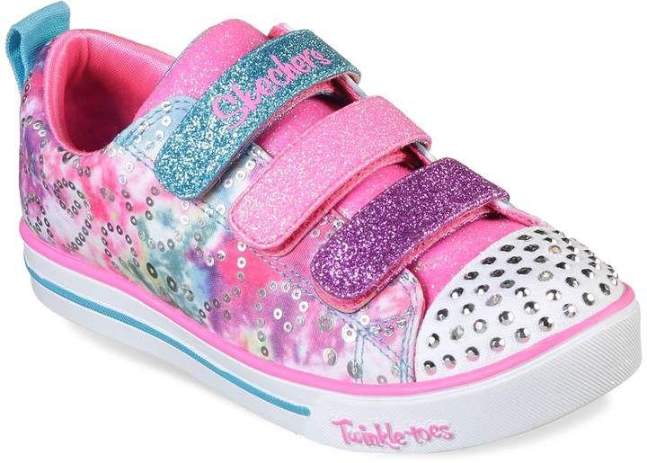 Skechers Twinkle Toes Shuffles Sparkle Lite Rainbow Brights