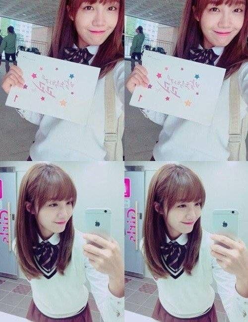 A Pink's Eunji greets fans from the set of '발칙하게 고고'   allkpop