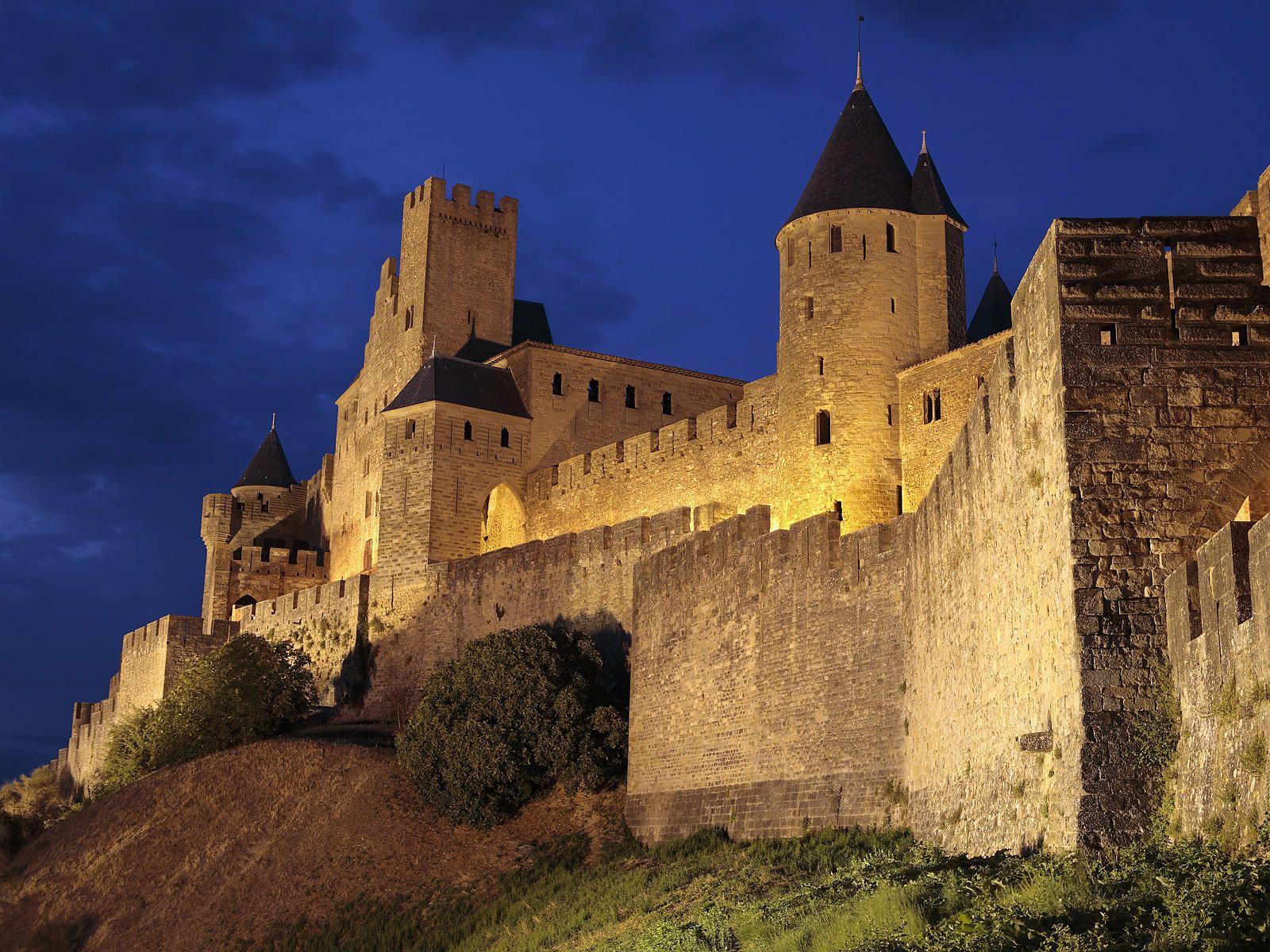 Carcassonne, France   Cathar Castle of Carcassonne France ...