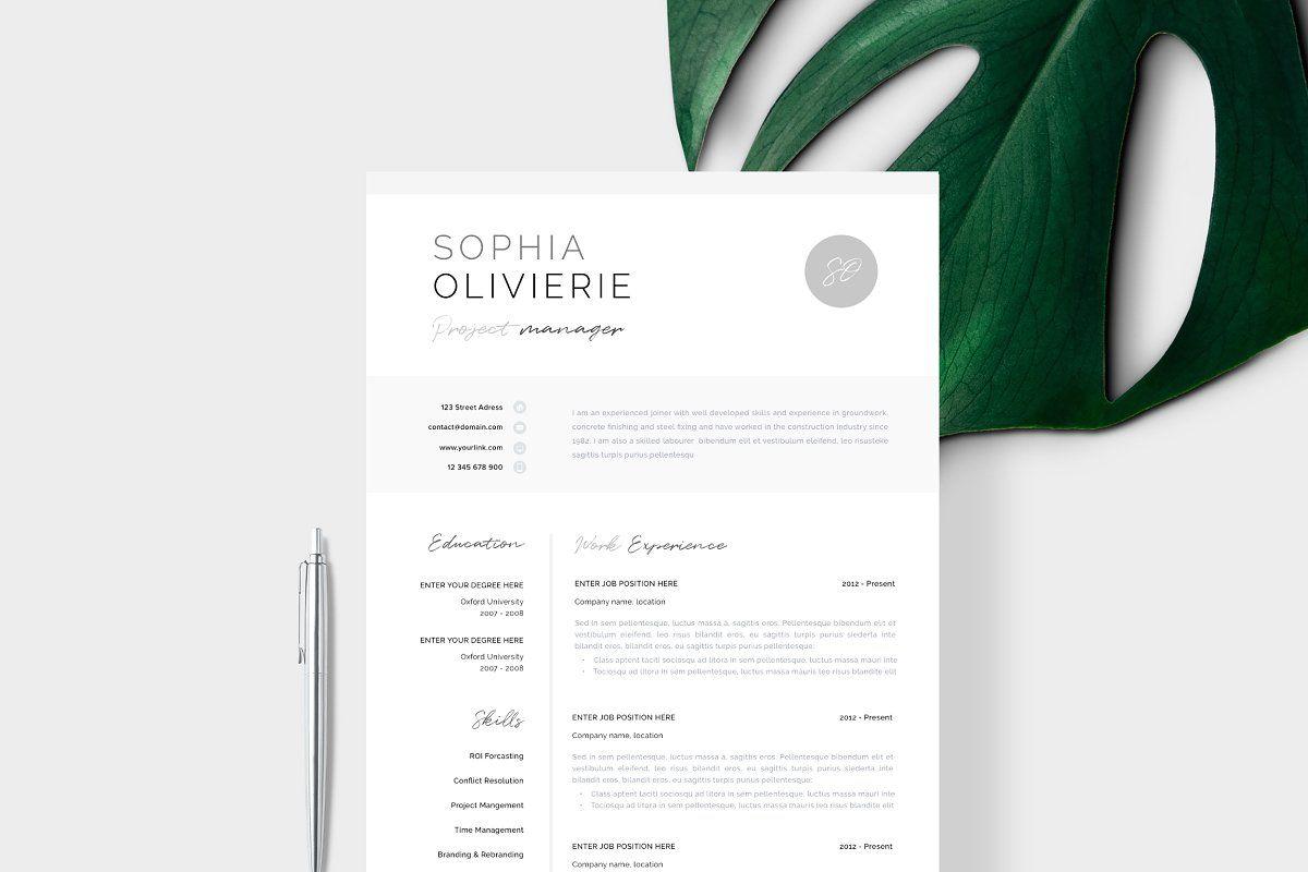 Resume Template 1 2 Page Lyon Simple Resume Template Resume Template Professional Resume Template