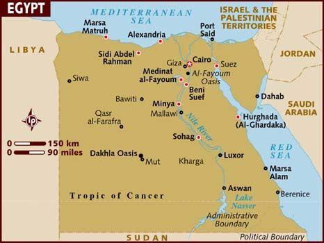 Many people are not sure where Egypt is located exactly in ...