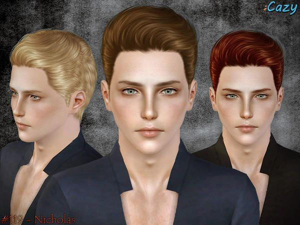 Nicholas Hairstyle Set For Males By Cazy Sims 3 Downloads Cc