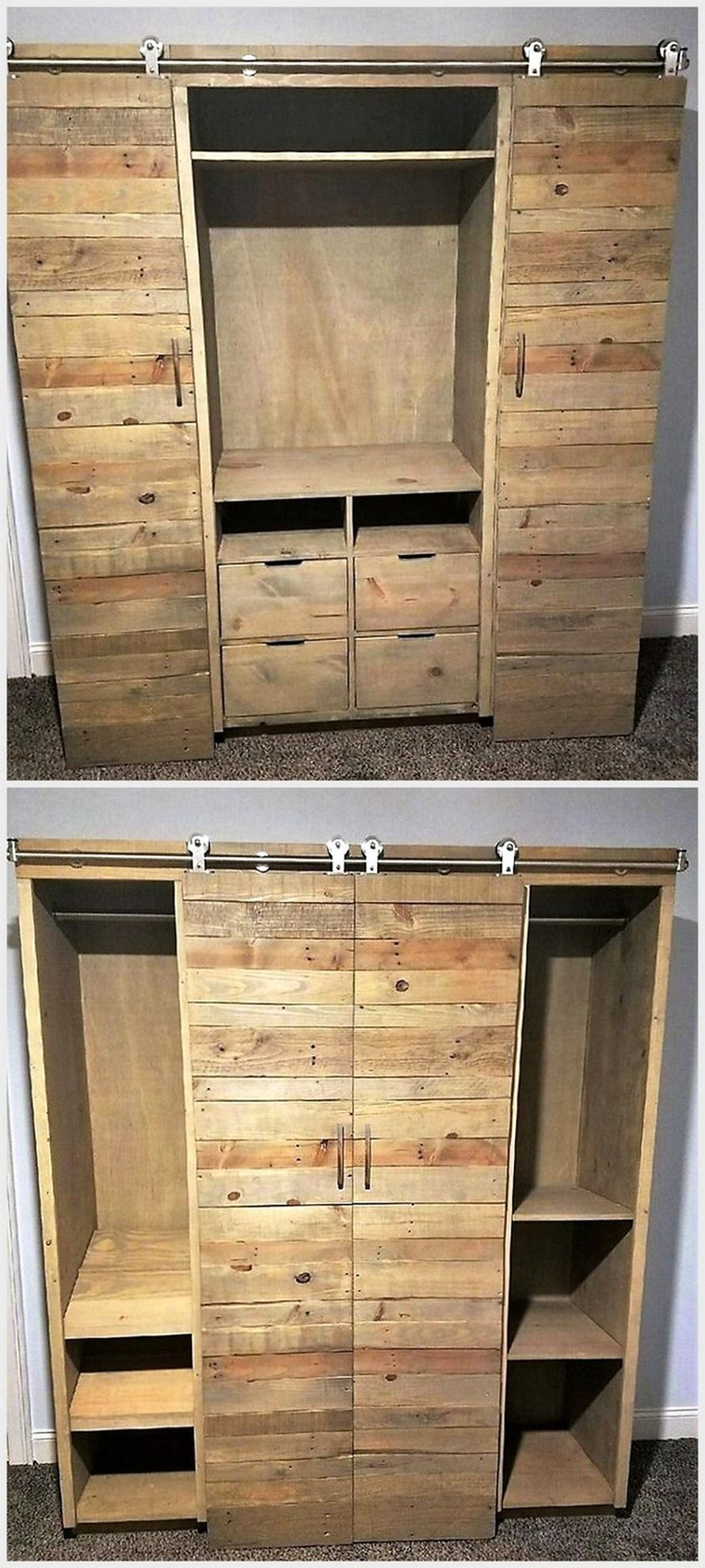 Cupboards Made From Pallets