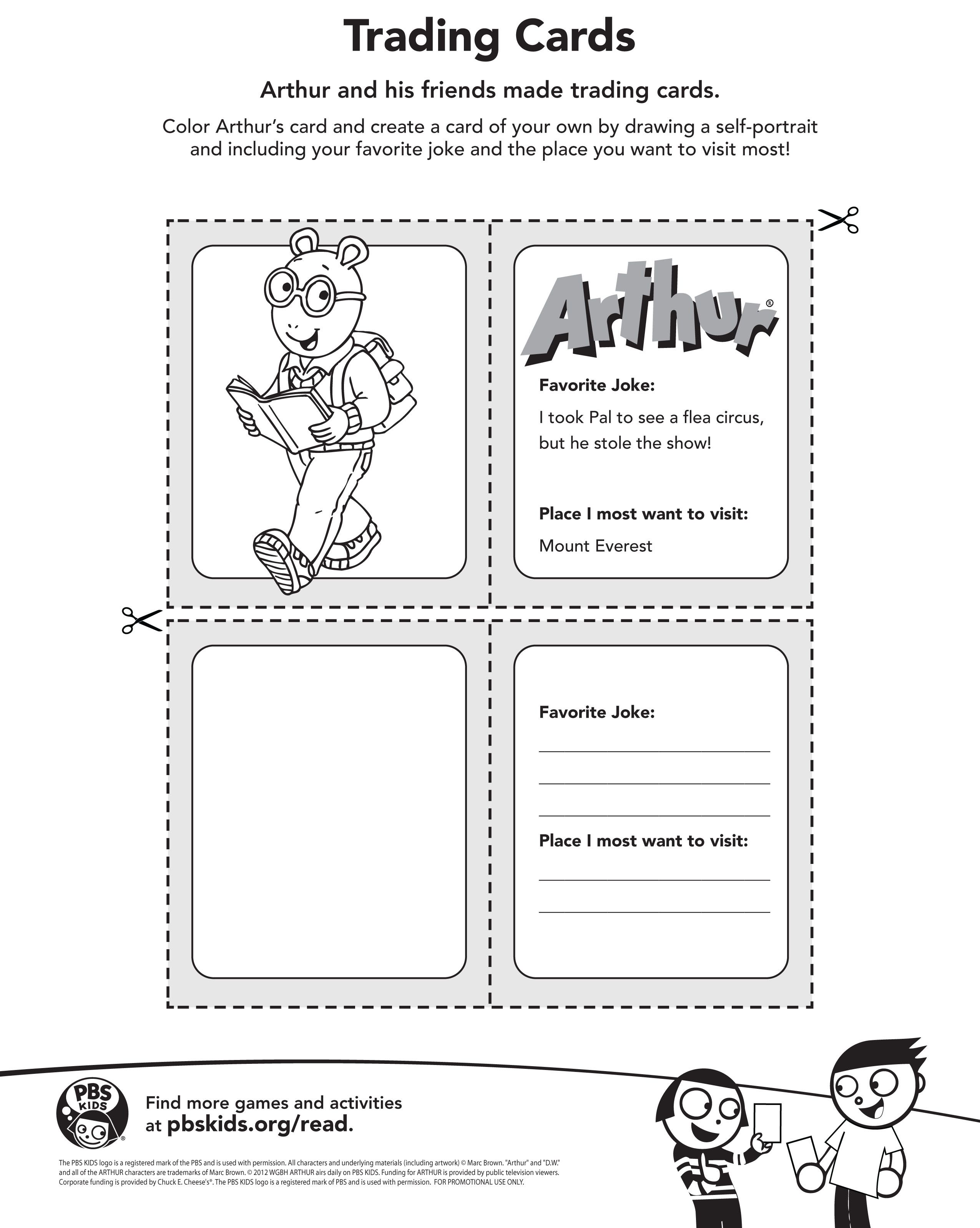 Creating Your Own Trading Card Just Like Arthur Arthur