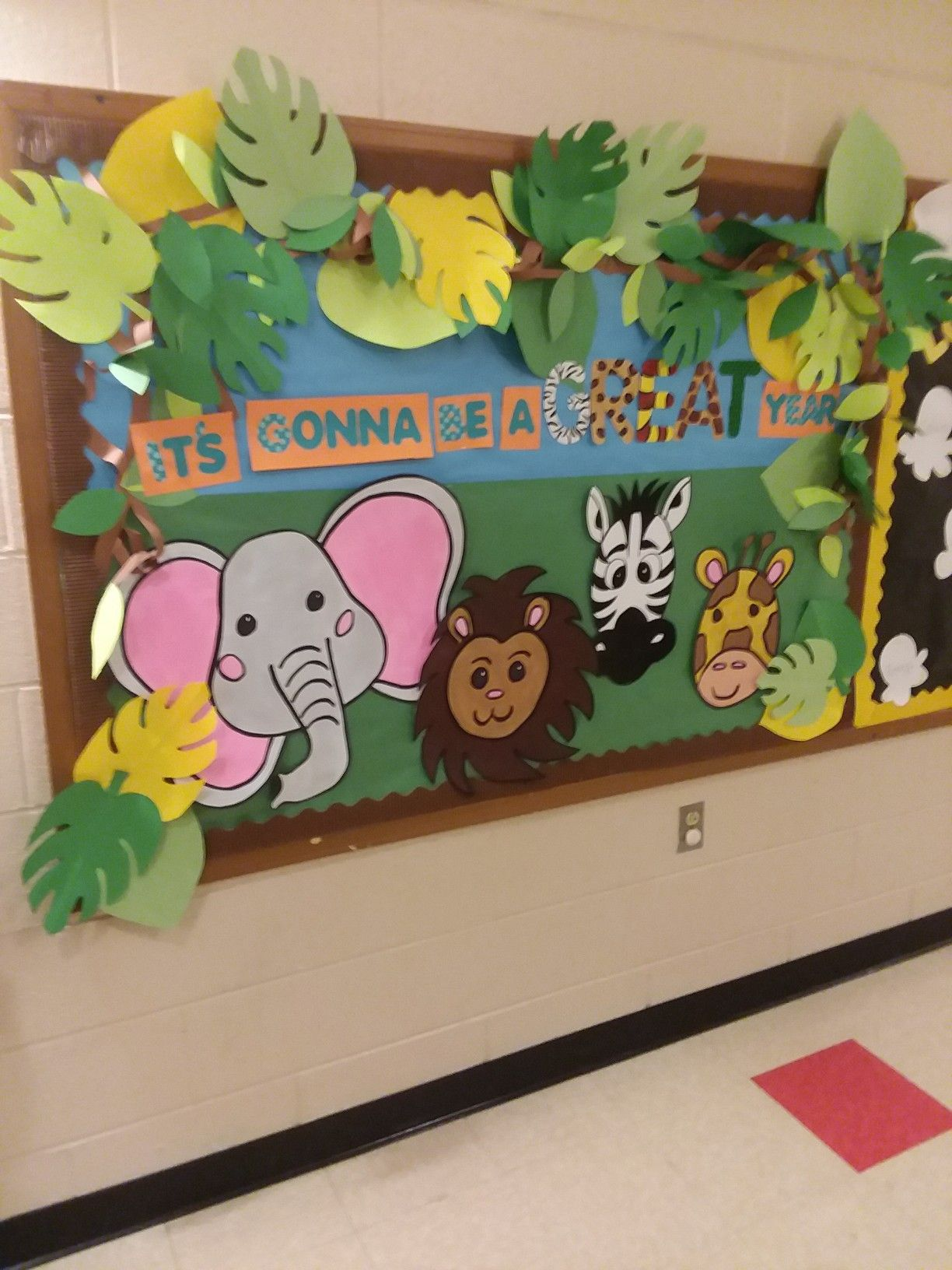 Jungle Themed Back To School Bulletin Board