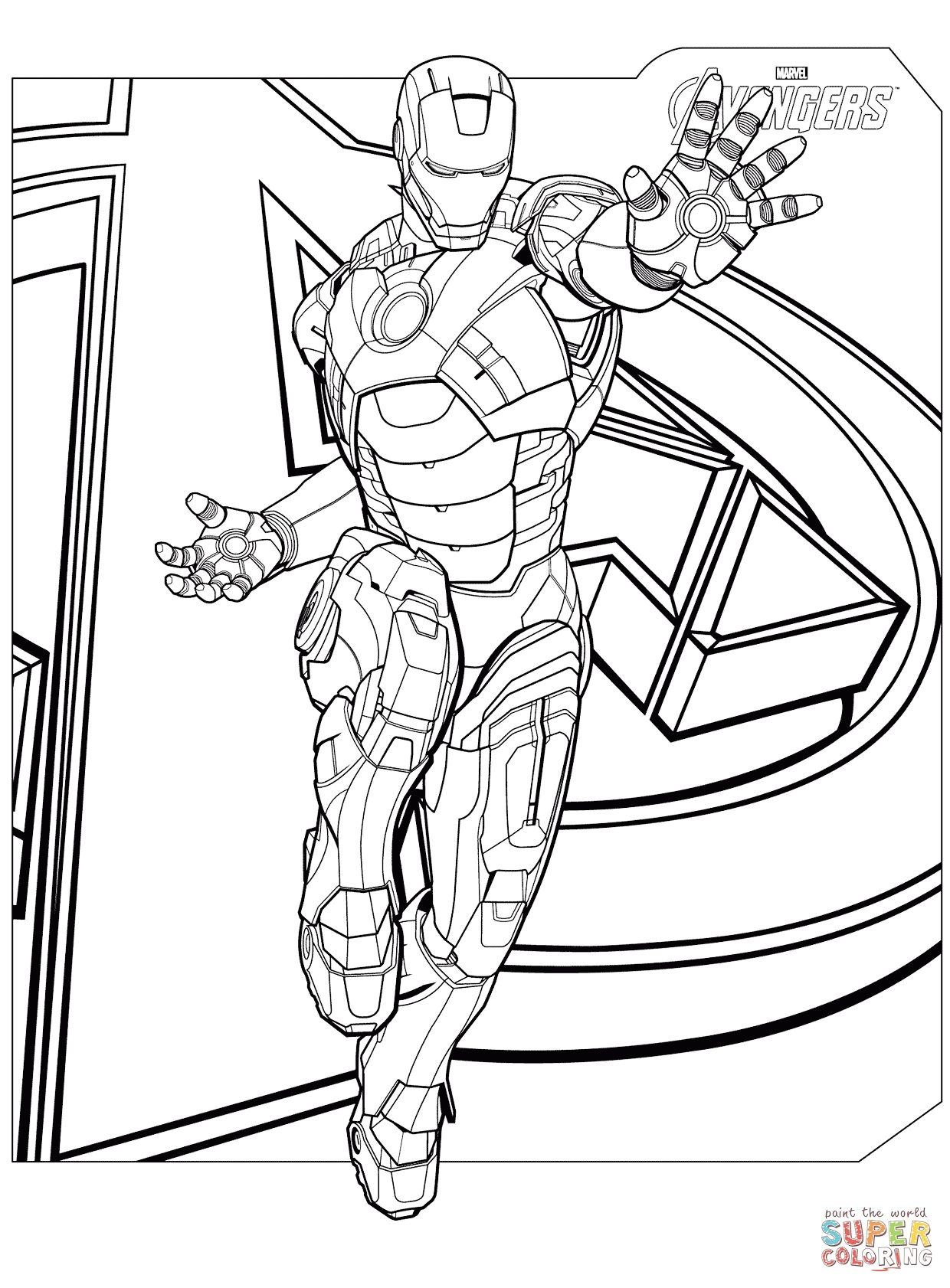 Awesome Avengers Pictures To Color To Color Coloring Pages For