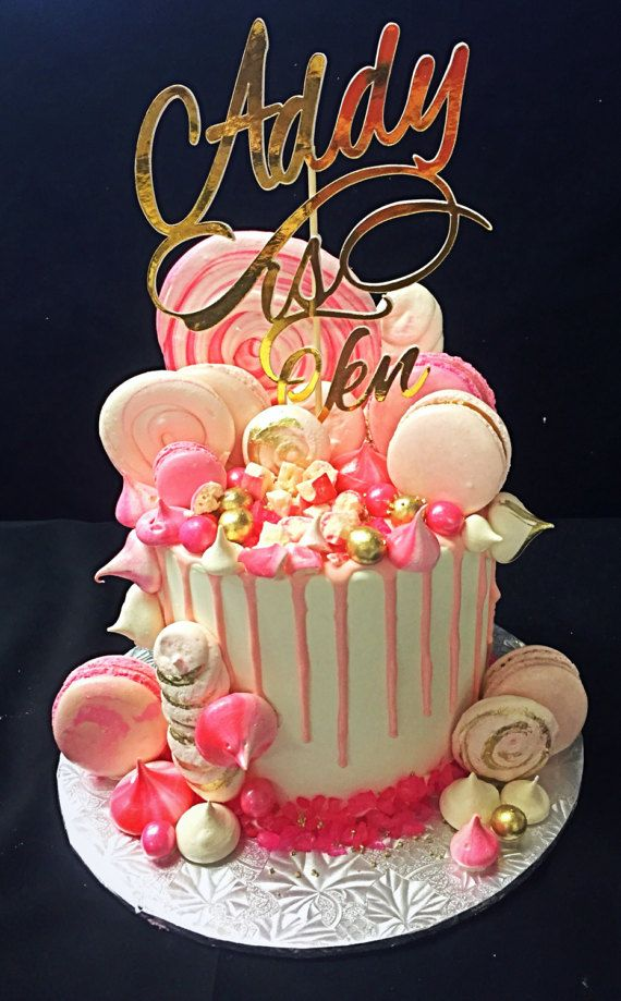 Birthday Cake Topper Custom Name Birthday Cake Topper Personalized