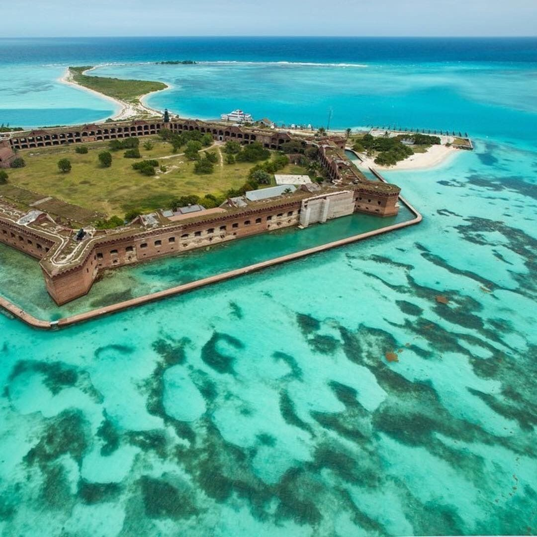 Fort Jefferson Dry Tortugas Florida By Southbeachhelicopters Dry Tortugas National Park National Parks Camping Experience