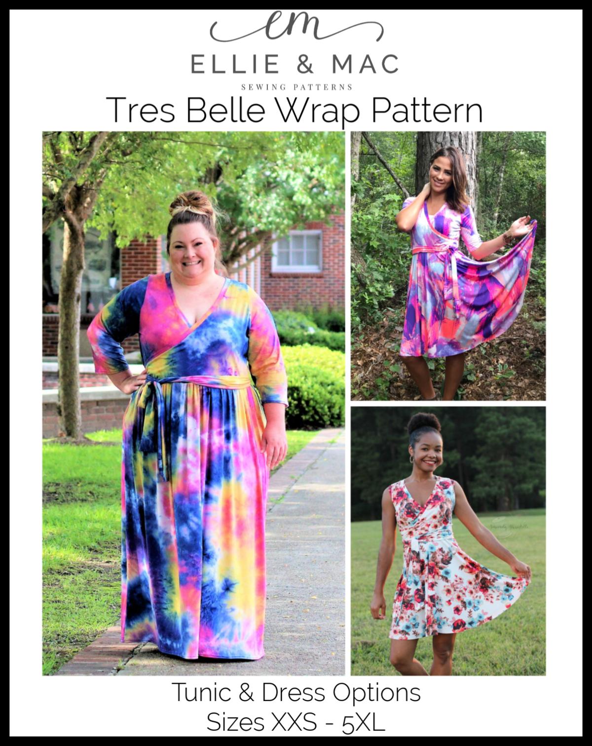 Tres Belle Wrap Tunic Dress Pattern Tunic Dress Patterns Wrap Dress Pattern Dress Pattern [ 1510 x 1200 Pixel ]