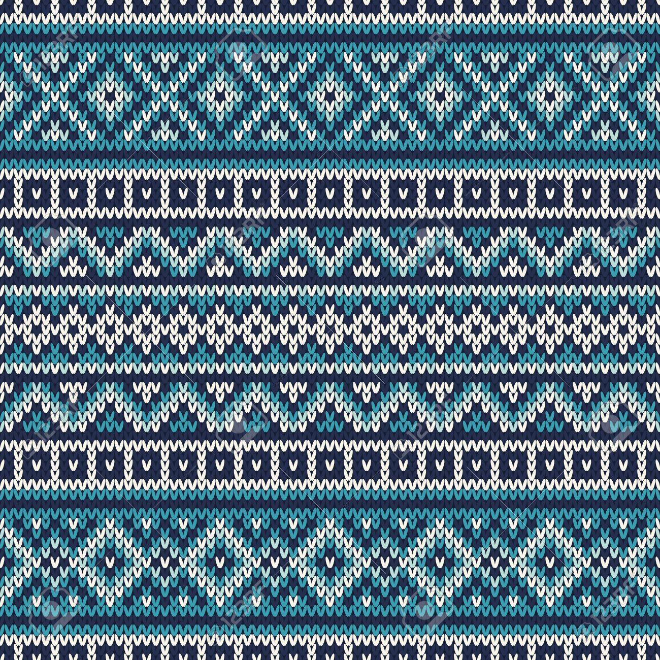 De Punto Suéter De La Vendimia Del Diseño. Fair Isle Modelo ...