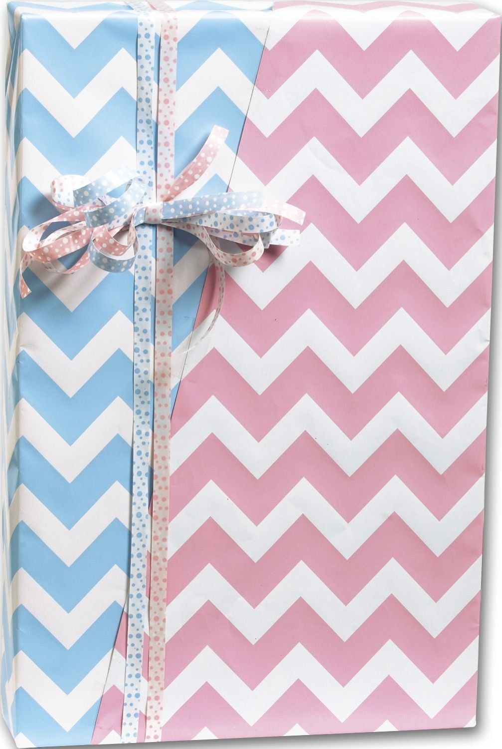 Everyday Gift Wrap Baby Chevron Reversible Gift Wrap 24 X 100