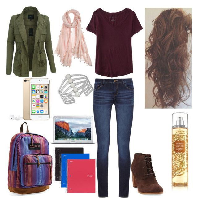 """""""MyStyle"""" by mimimoon95 on Polyvore featuring Aéropostale, DL1961 Premium Denim, LE3NO, TOMS, Chan Luu, Lucky Brand and JanSport"""