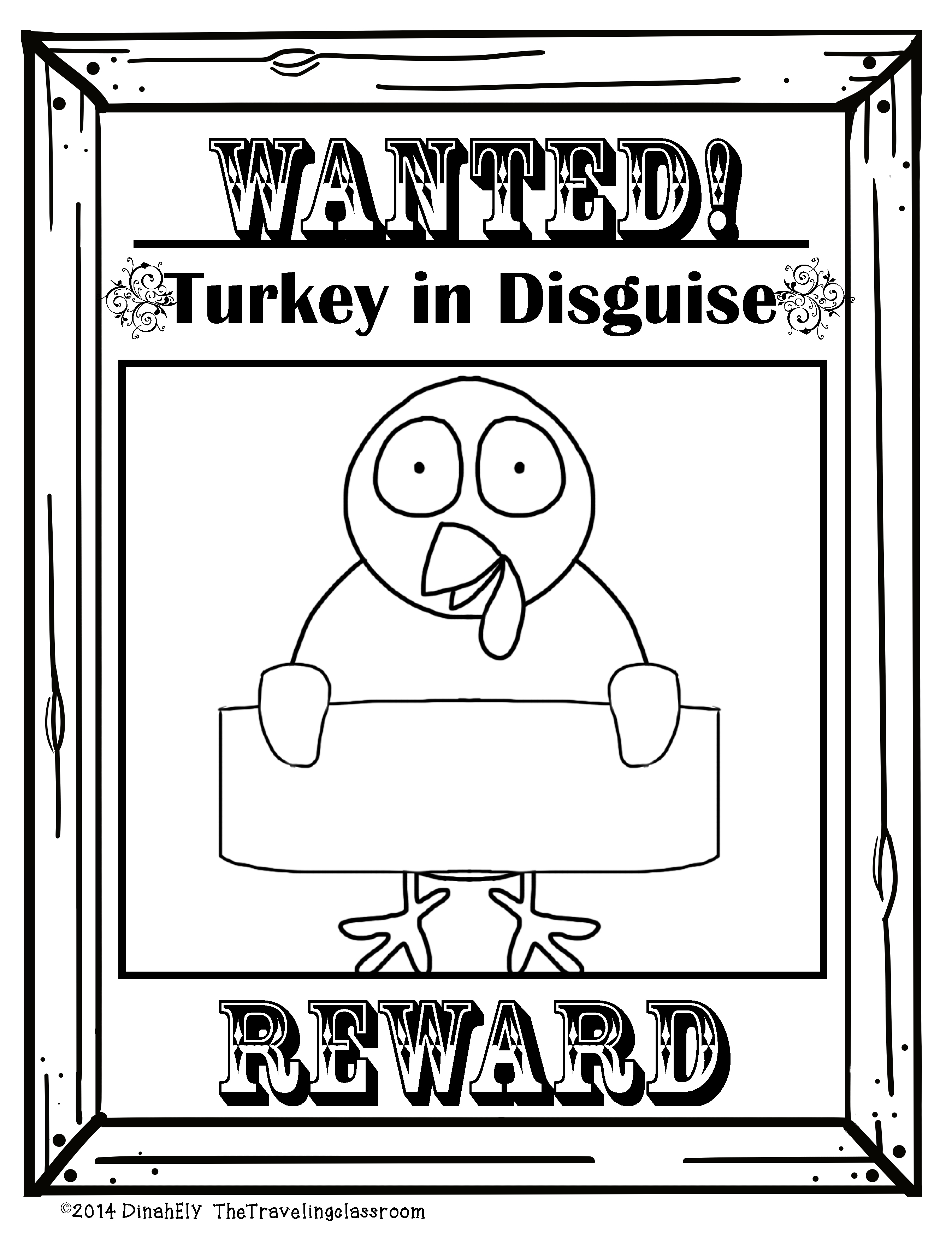 Free Turkey In Disguise Printables 7 Different Pages To Choose