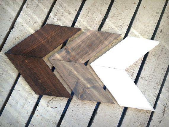 Rustic Wooden Arrow Set Set Of Three Chevron Arrows Wood Arrow