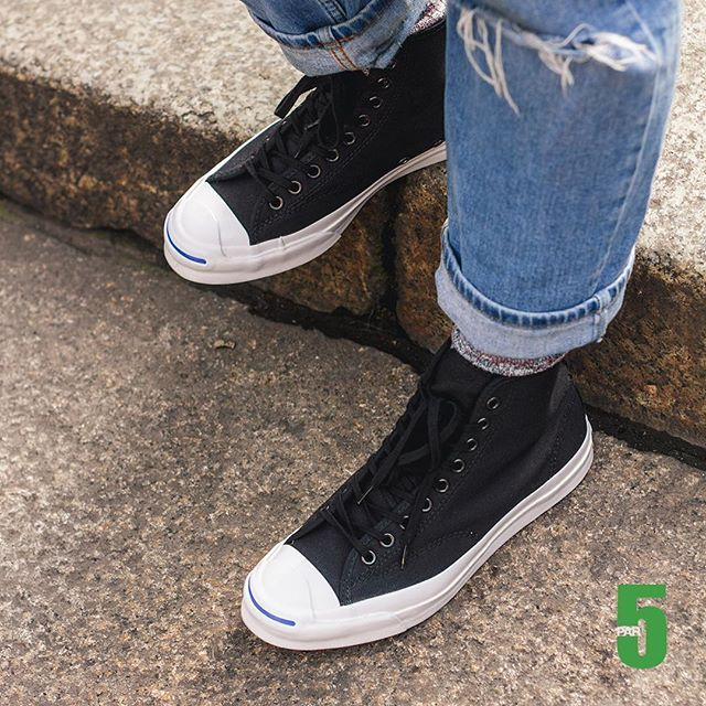 4b111737bb88 Converse  Jack Purcell Signature Hi Duck Canvas  Black white online on  par5milano.