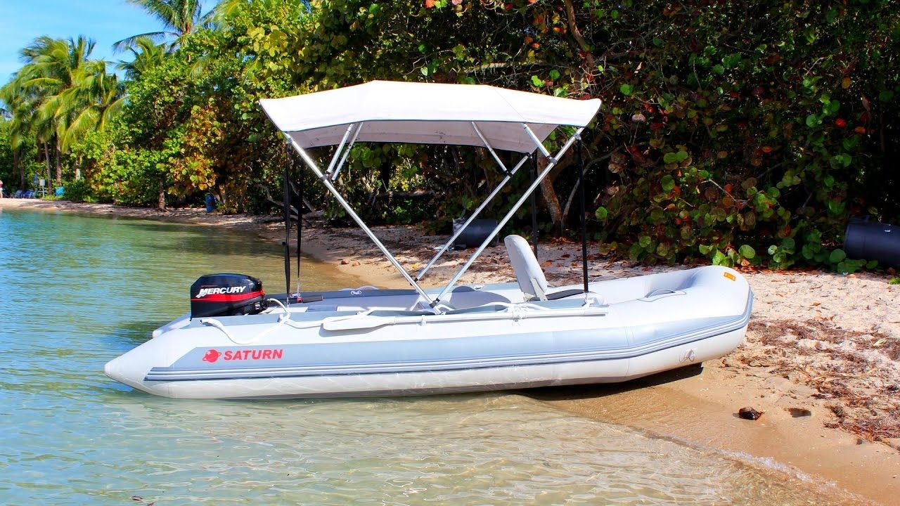 Saturn Sd410 Inflatable Boat With 15hp Outboard Motor