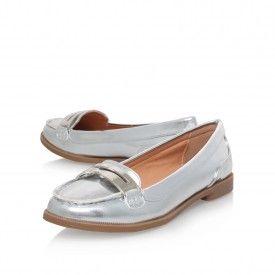 NISSA White Flat Loafer Shoes by Miss KG | Kurt Geiger
