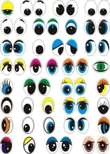 Yeux a imprimer cheznounoucricri yeux monstres pots - Dessin de bouche a imprimer ...