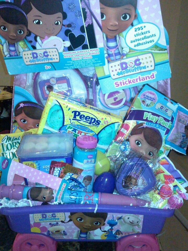 Doc mcstuffins easter basket basketcasebaskets by angela doc mcstuffins easter basket quirky giftseaster negle Choice Image