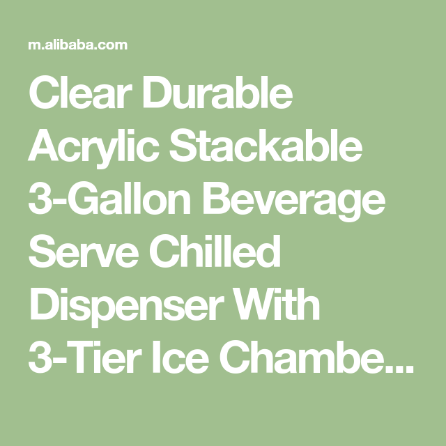 Clear Durable Acrylic Stackable 3 Gallon Beverage Serve Chilled