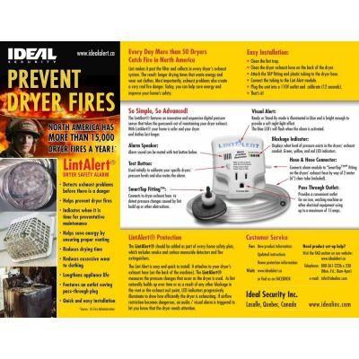 Lint Alert Dryer Vent Safety Alarm